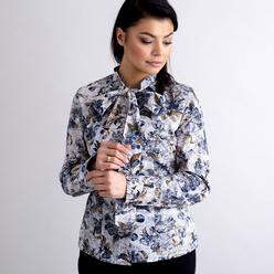 5941f143cba2 Dámska košeľa kvetinový vzor s dlhou mašľou 10471