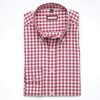 b66d2eaa5d7b ... Pánska slim fit košeľa (výška 176-182) 6863 s bielo-bordová kockou ...