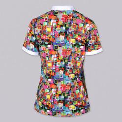 d8c6b4787bb8 Dámske Polo tričko 9461 so vzorom farebných štvorcov - Košele Willsoor