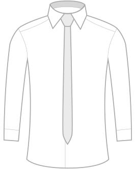 Úzka kravata z mikrovlákna